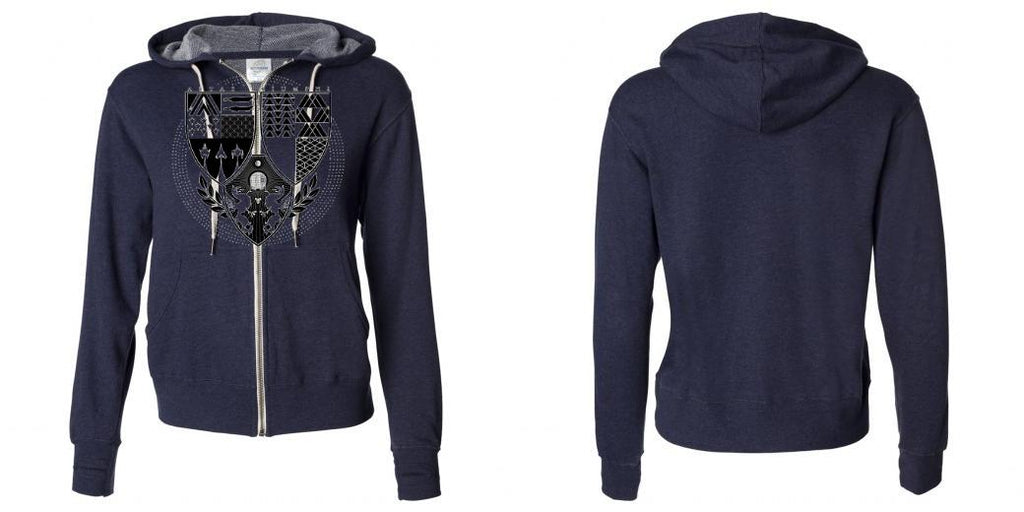 Independent Trading Co Unisex French Terry Heathered Hooded Full-Zip Sweatshirt - PRM90HTZ