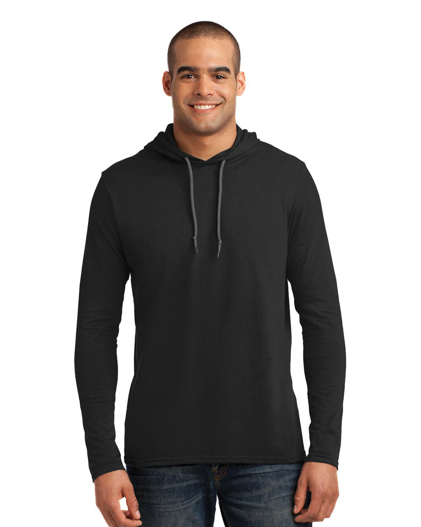 Anvil Lightweight Long Sleeve Hooded T-Shirt - 987