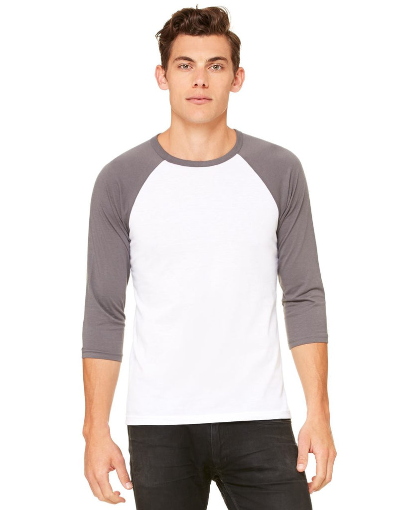 Bella Canvas Unisex Three Quarter Sleeve Baseball Tee - 3200