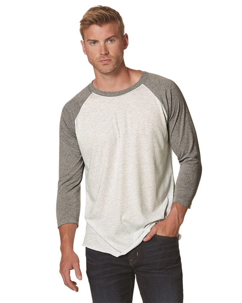 Next Level Unisex Tri Blend 3/4 Sleeve Baseball Raglan Tee - 6051