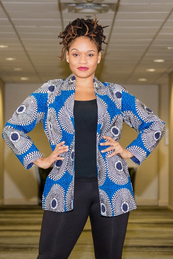 Plateau Jacket - Blue Hand Beaded Jacket