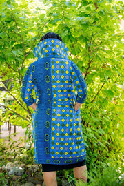 Ijora Jacket - Blue and Yellow