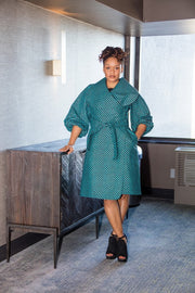 Lagos Coat/ Dress- Turquoise