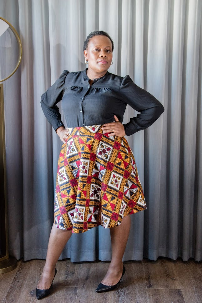 Ashade Skirt-Different red pattern