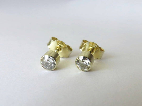 Ohrstecker mit Diamanten 585 Gold