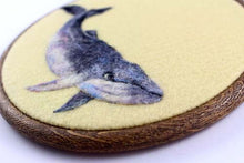 Needle Felted Whale Wool Painting Art