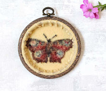 Original Needle Felted Butterfly Wool Painting