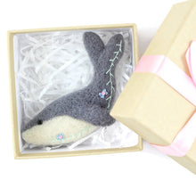 Needle Felted Whale Brooch