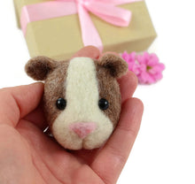 Needle Felted Guinea Pig Brooch