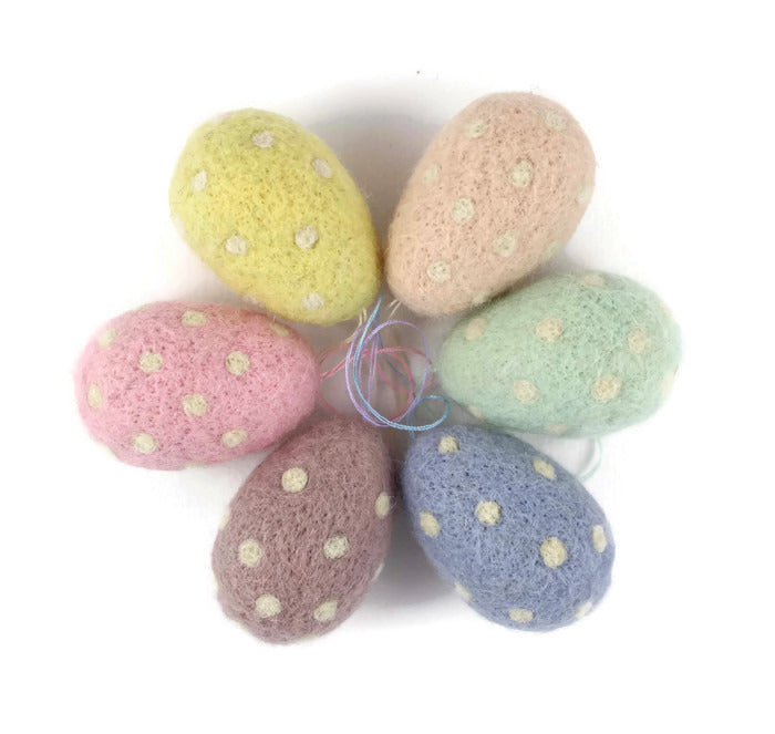 Spotty Easter Egg Decorations (Set of Six)