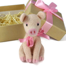 Needle Felted Pig Ornament