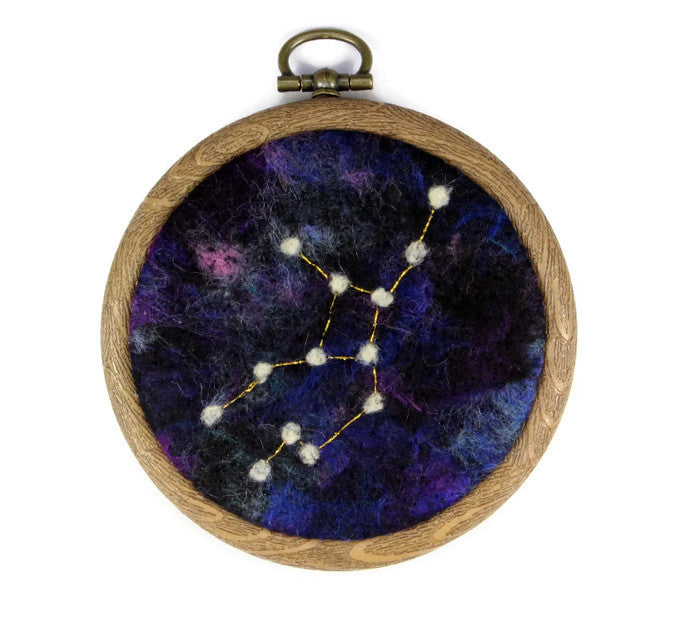 Galaxy Wool Painting (Constellation Virgo)