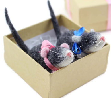 Needle Felted Rat Sculpture