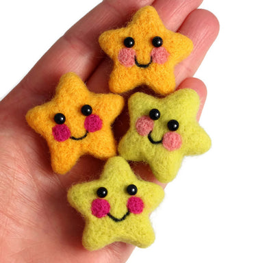 Needle Felted Star Brooch