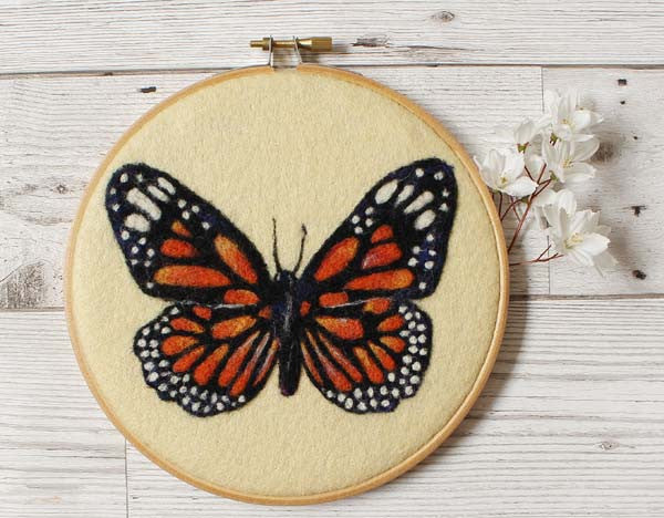 Butterfly Wool Painting
