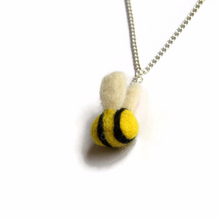 Needle Felted Bumblebee Necklace