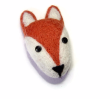 Needle Felted Fox Brooch