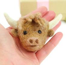 Needle Felted Highland Cow Brooch