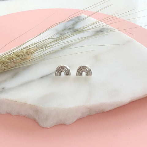 SILVER ARCO STUDS