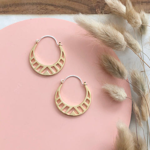 GOLD SPECTRA HOOPS