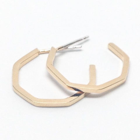 Small Geo Hoops- Gold Plated