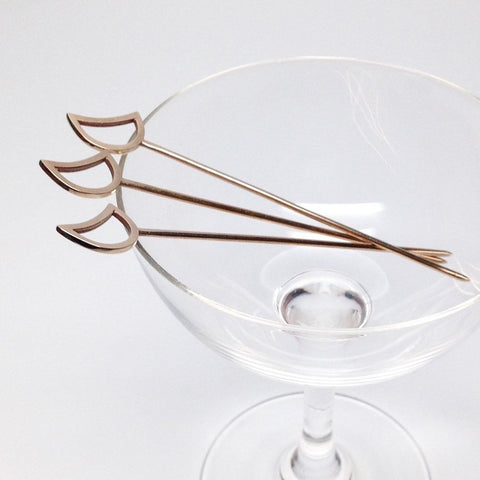 MOON COCKTAIL PICKS- SET OF 4
