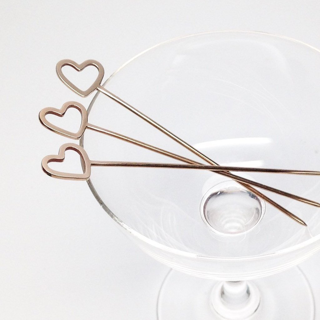 HEART COCKTAIL PICKS - SET OF 4