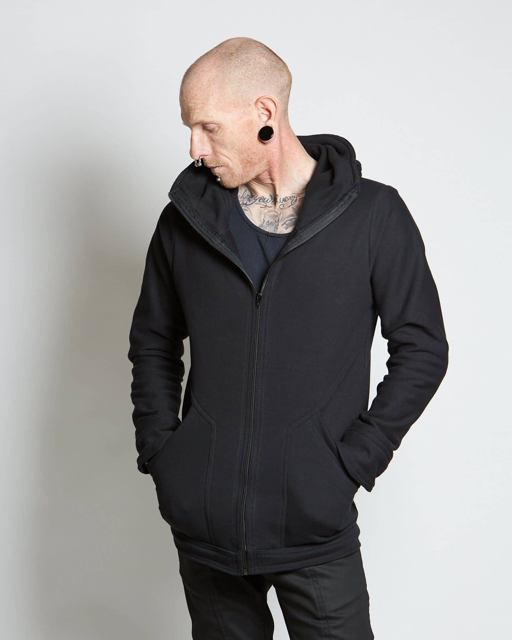 100% cotton mens hoodie handmade in the USA