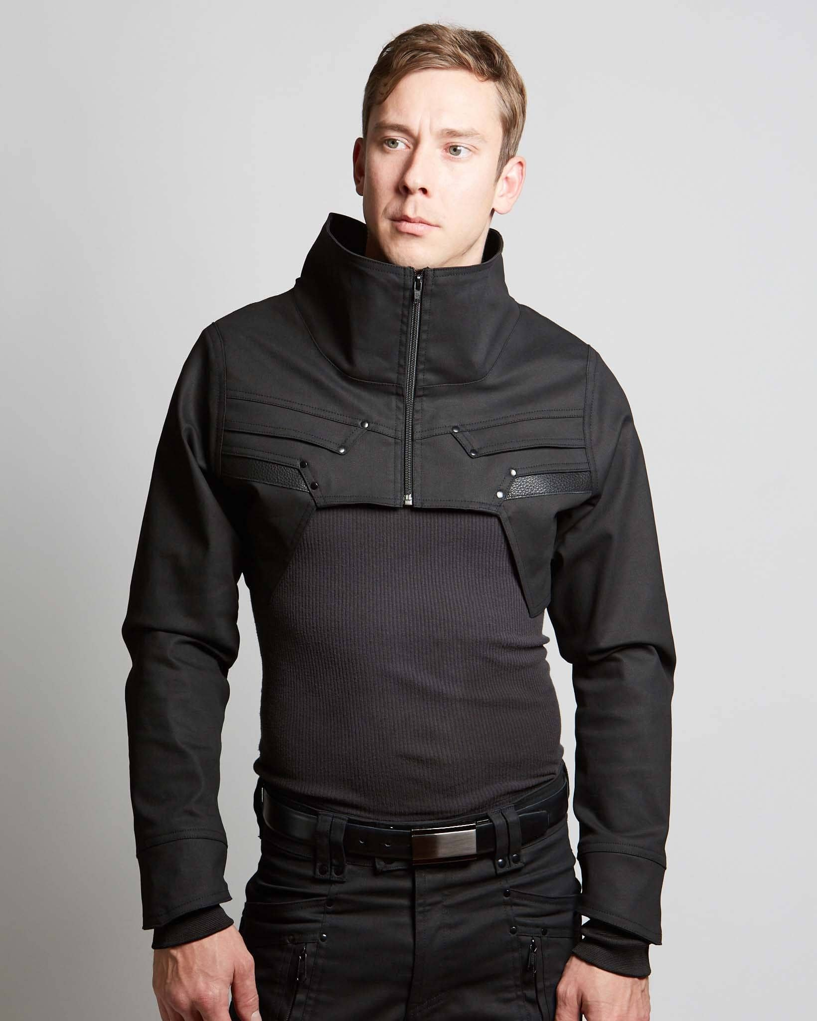 high collar techwear style shrug for men and women