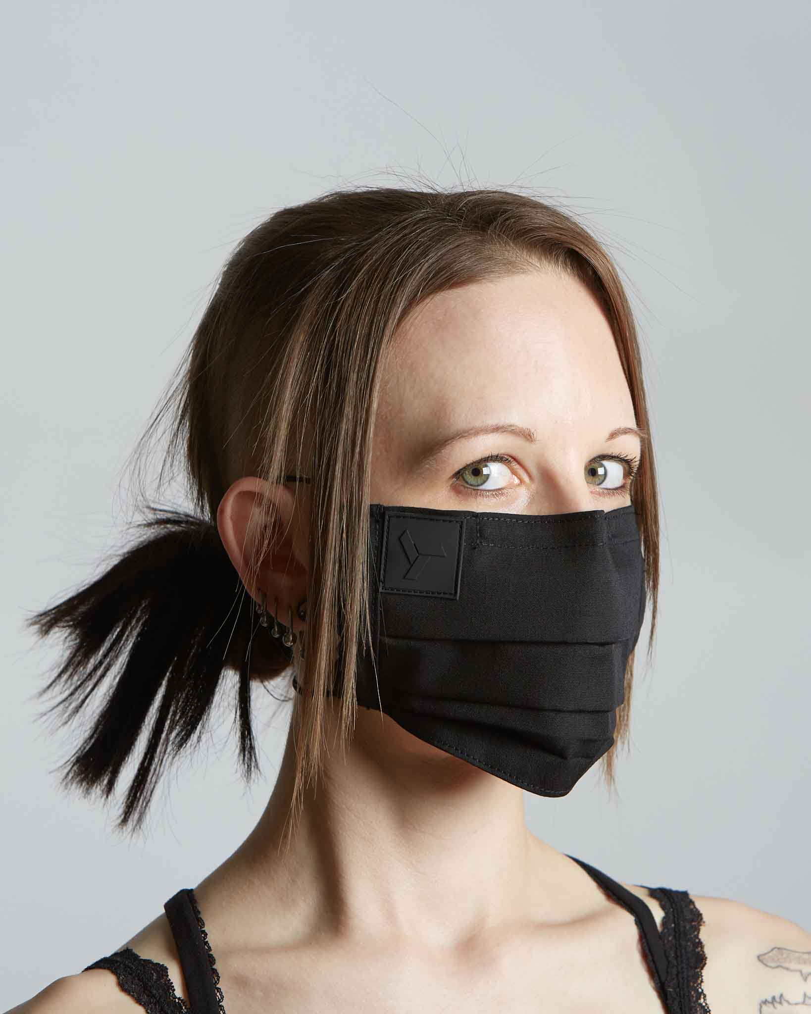 Designer COVID mask with adjustable straps