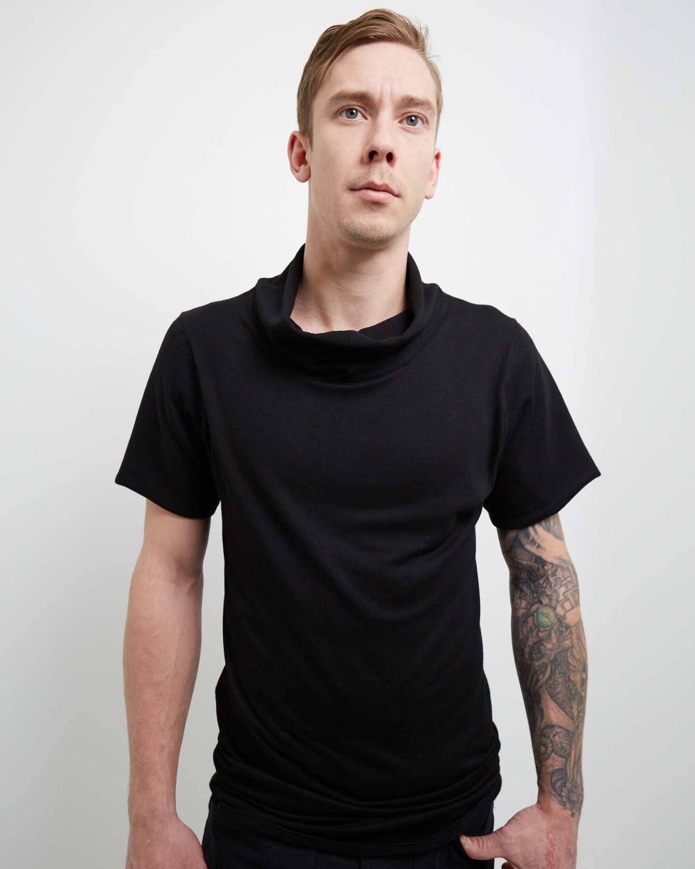 modern looking black t-shirt