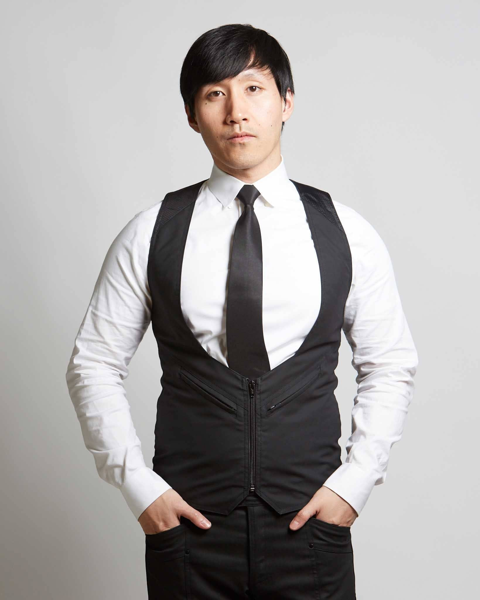 modern mens waistcoat with futuristic style