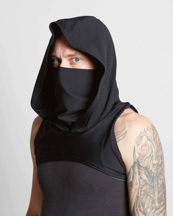 ninja style fitted hood with cowl