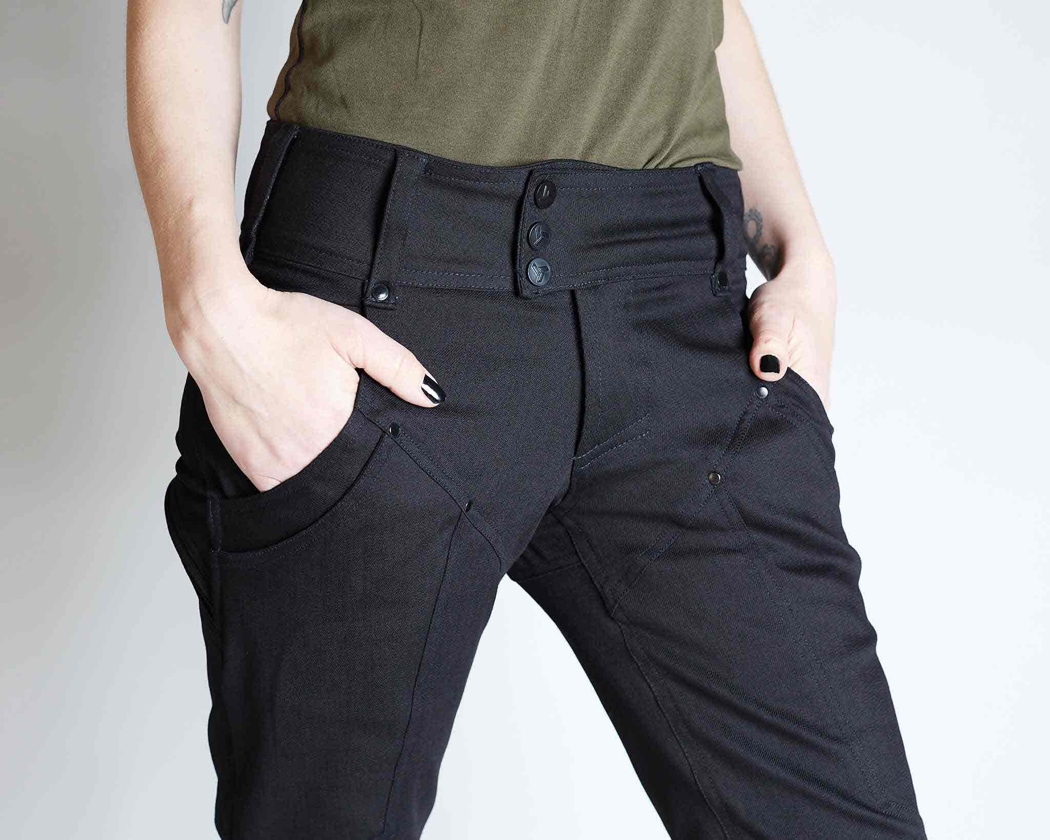 womens modern pants with tons of pockets