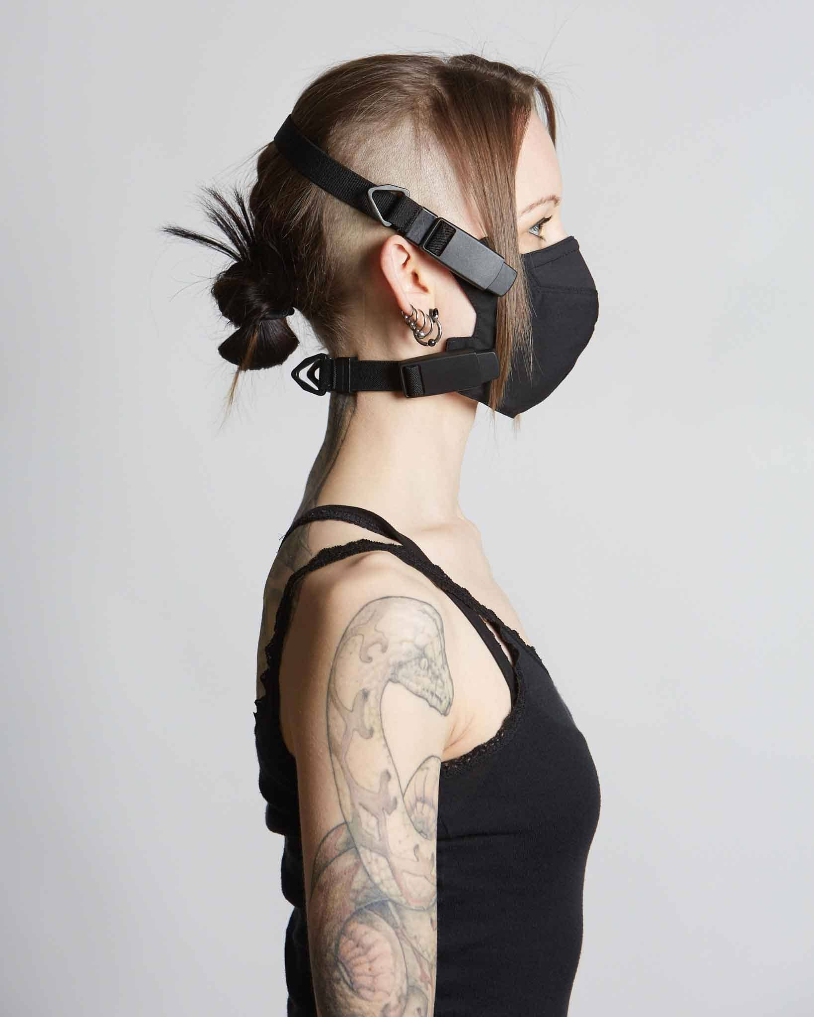 BDSM influenced COVID mask with special magnetic bulky hardware