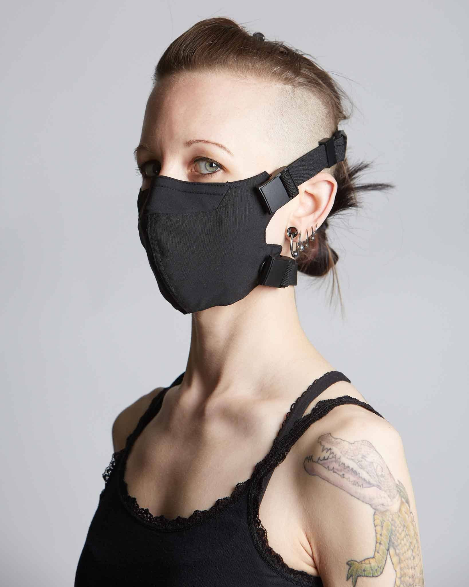 handmade modern COVID mask with magnetic straps