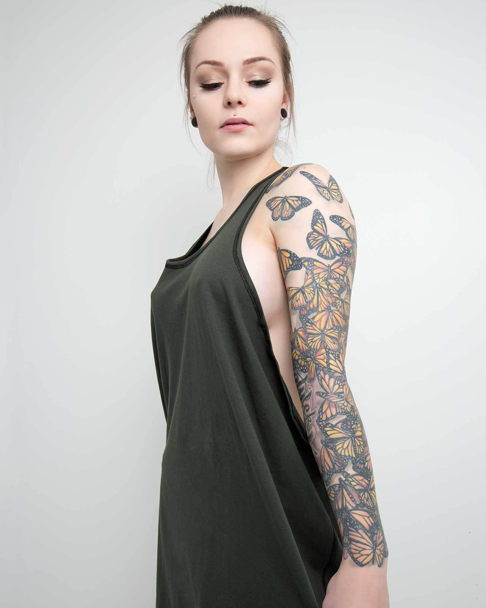 soft jersey tank dress with open sides