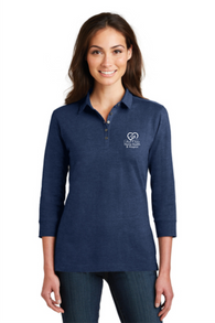 Ladies 3/4 Sleeve Meridian Cotton Blend Polo (L578-56679)
