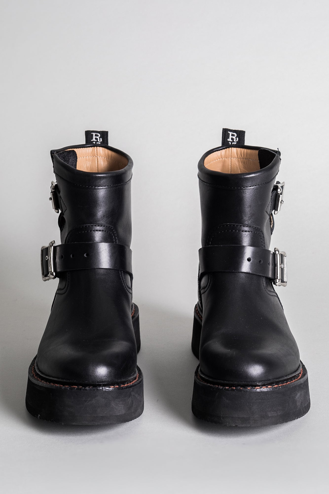Single Stack Engineer Boot - Black