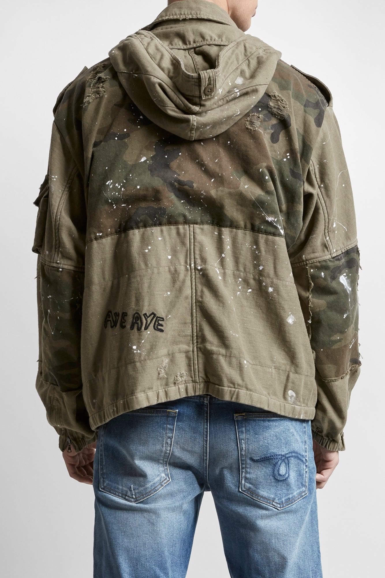 Multi Pocket Jacket - Olive with Camo