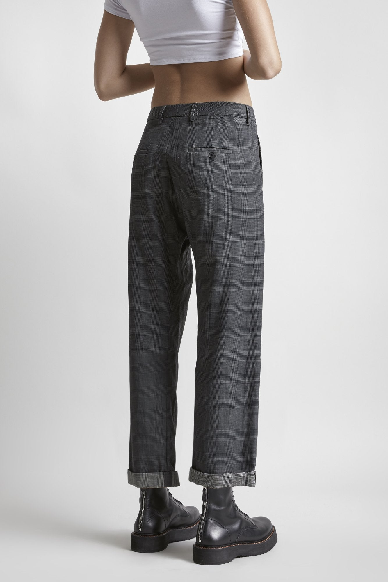 Crossover Trouser - Grey Check