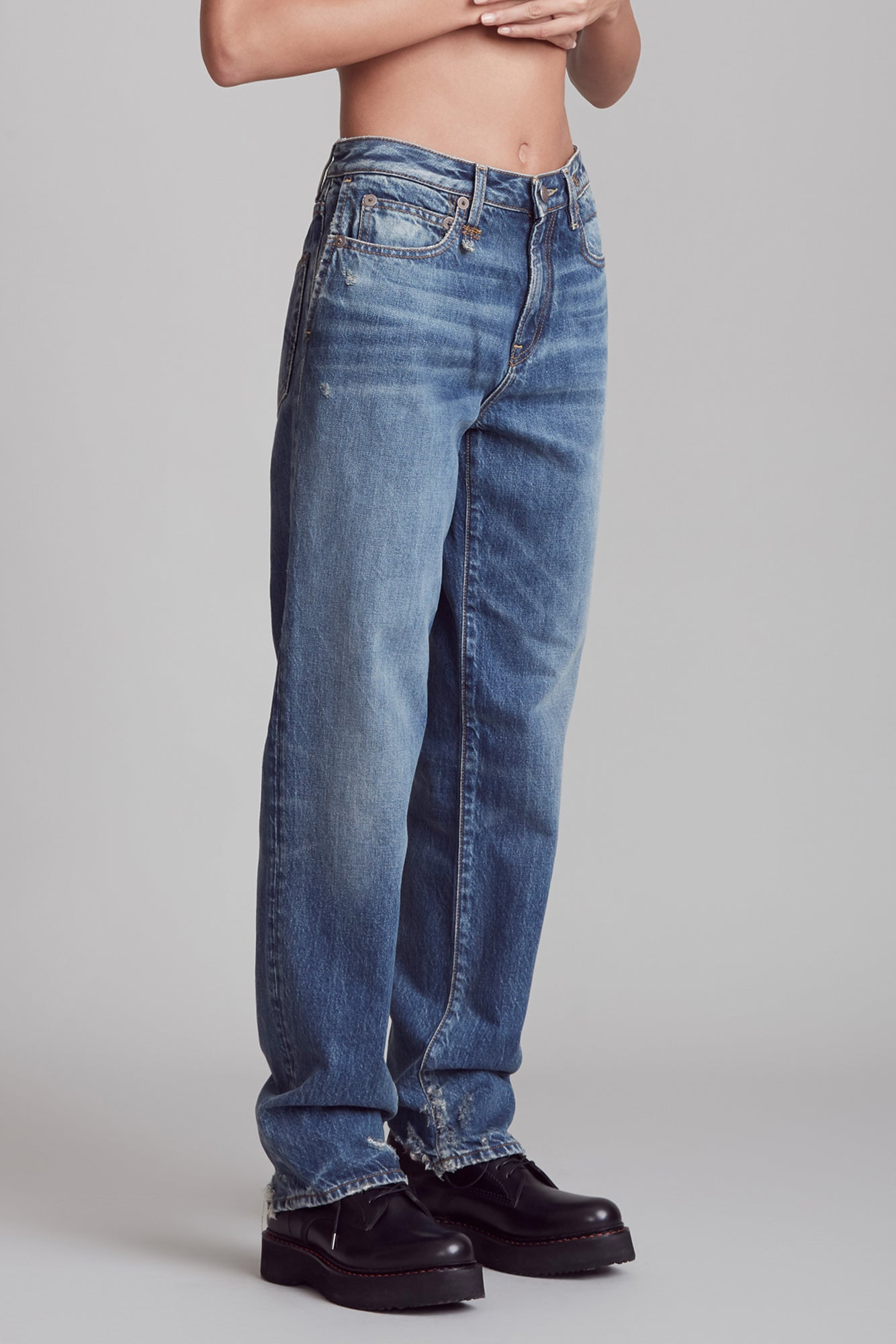 Double Pocket Trouser - Riley Indigo