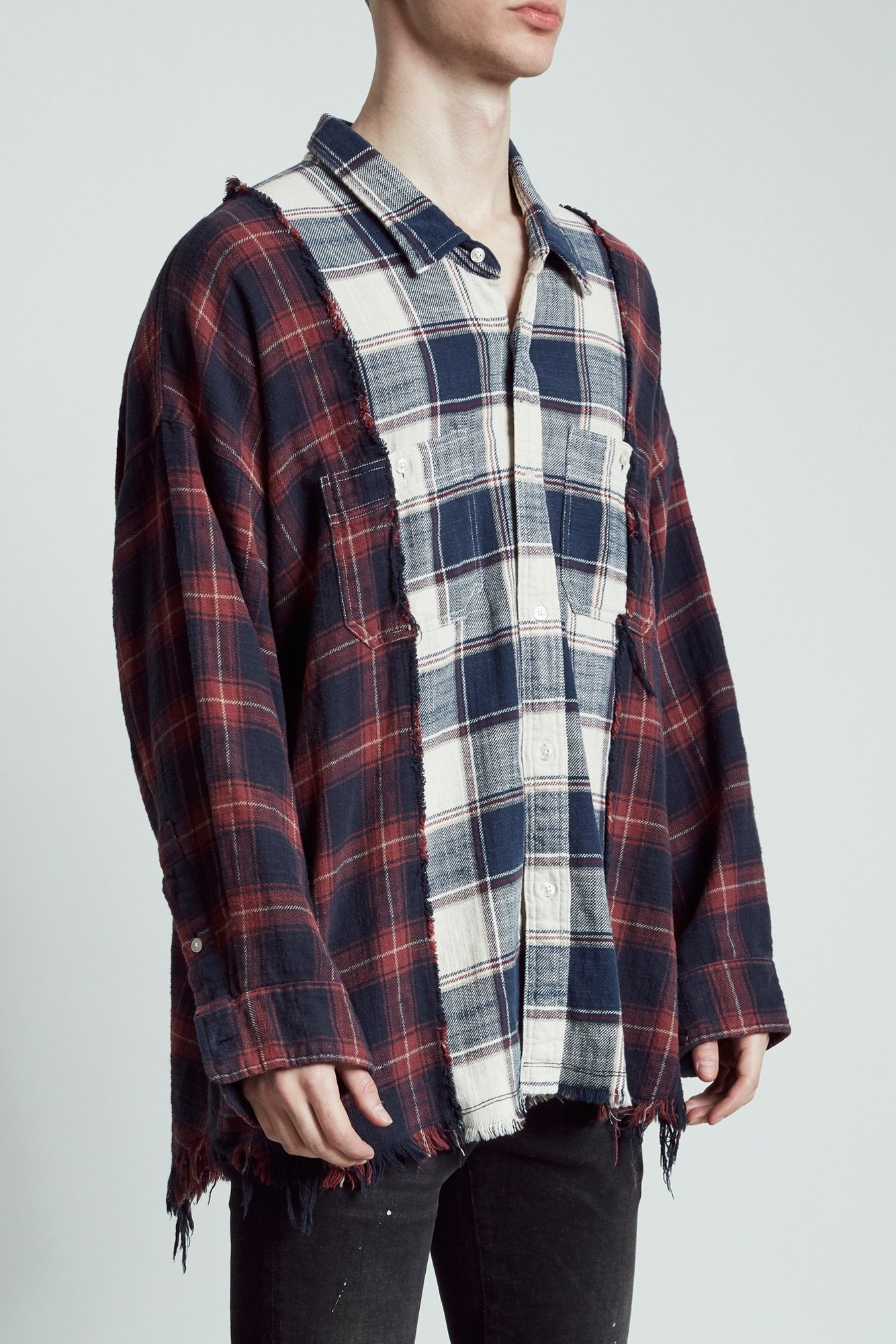 Drop Neck Combo Workshirt