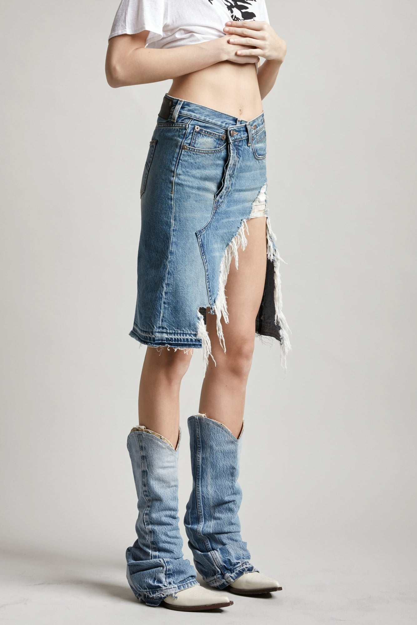 NORBURY DENIM SKIRT - JASPER