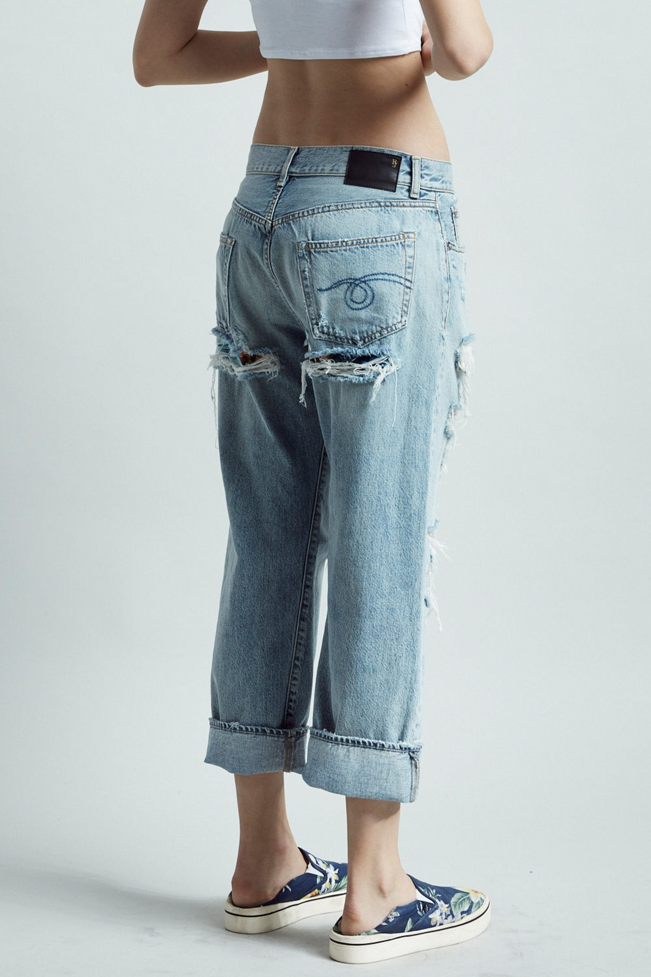 Boyfriend Jean - Milton With Rips