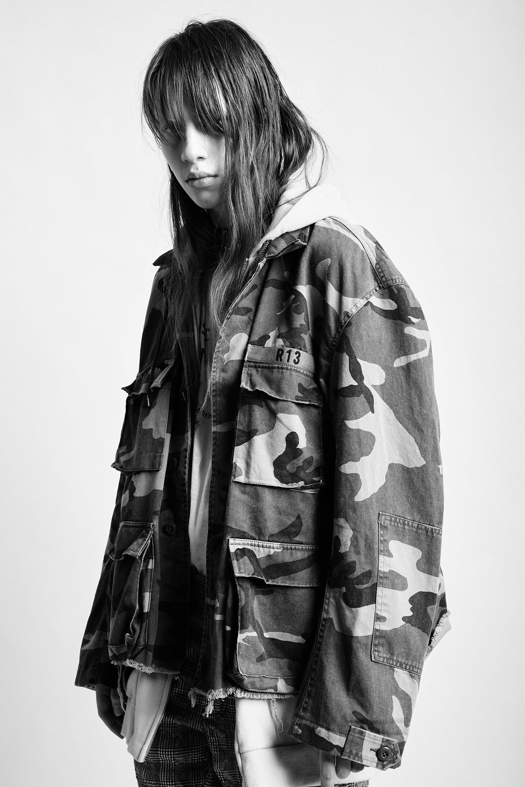 CAMO ABU JACKET W/ LONG HOODIE - YELLOW