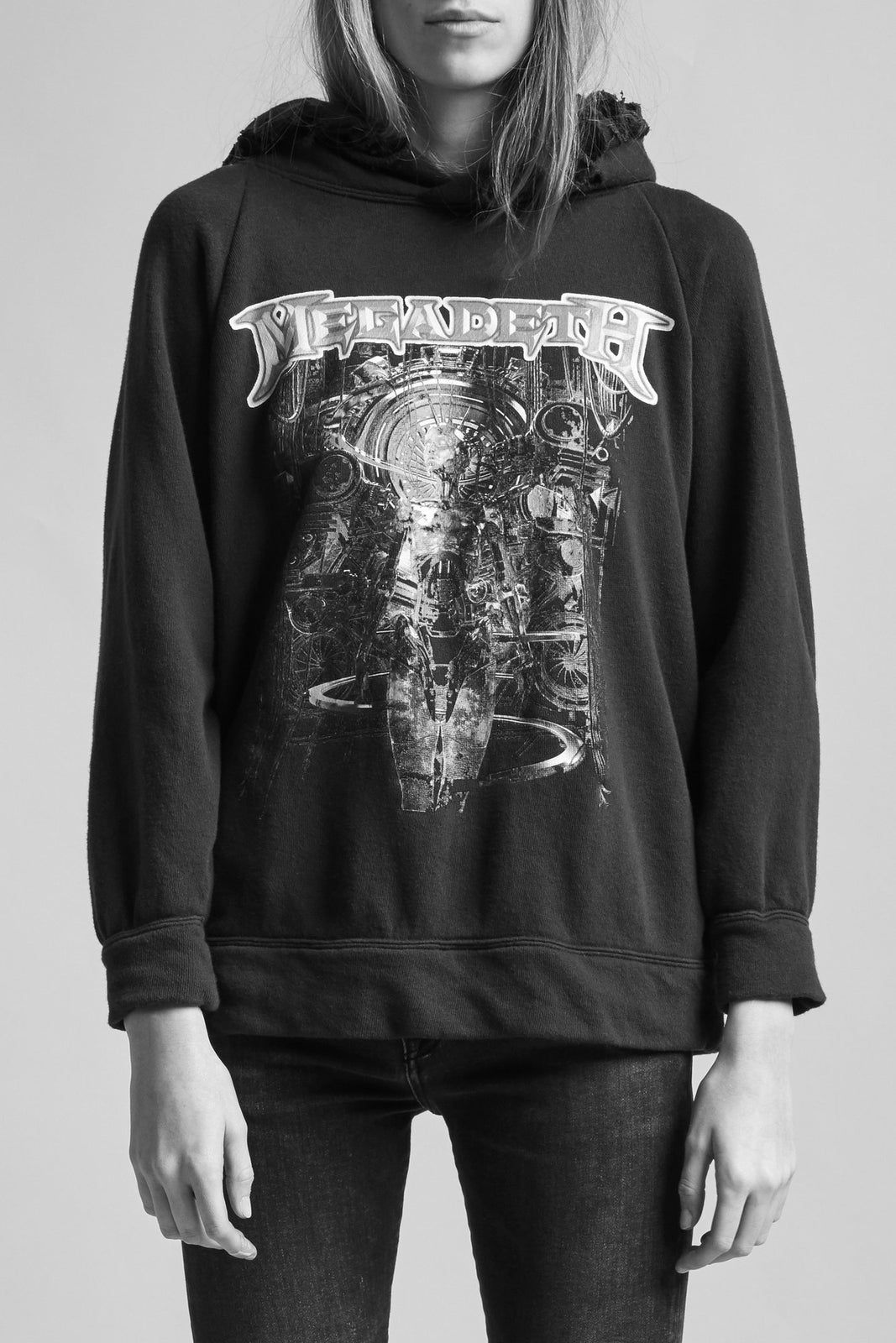 Distressed Megadeth Machine Hoodie - Black