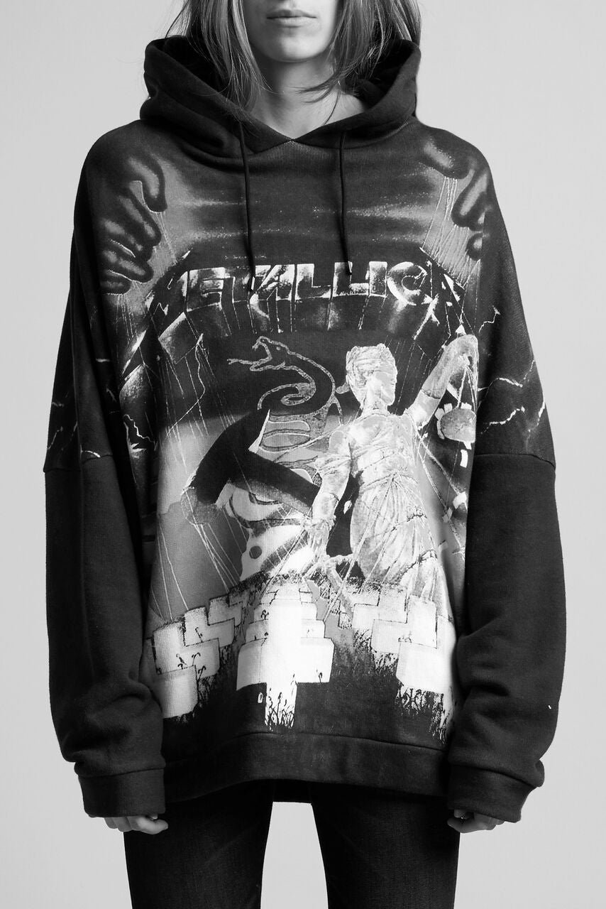 R13 oversized hoodie with metallica print