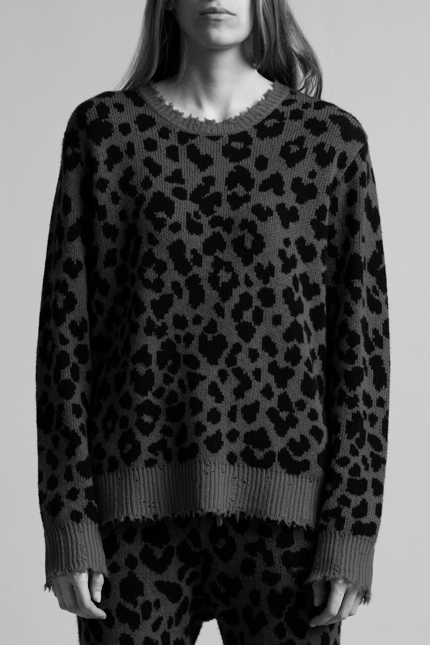 Leopard Sweater - Red
