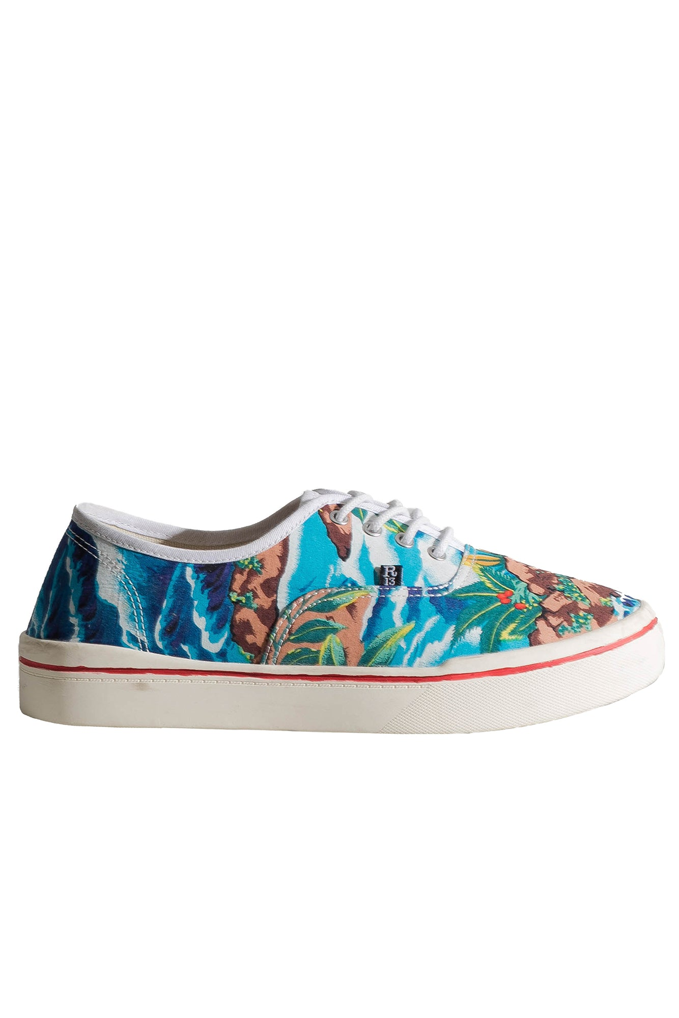 Lace Up Sneaker - Turquoise Wave